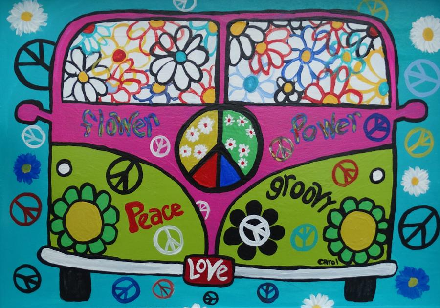 Peace Painting - Peace Love Dub by Carol Hamby