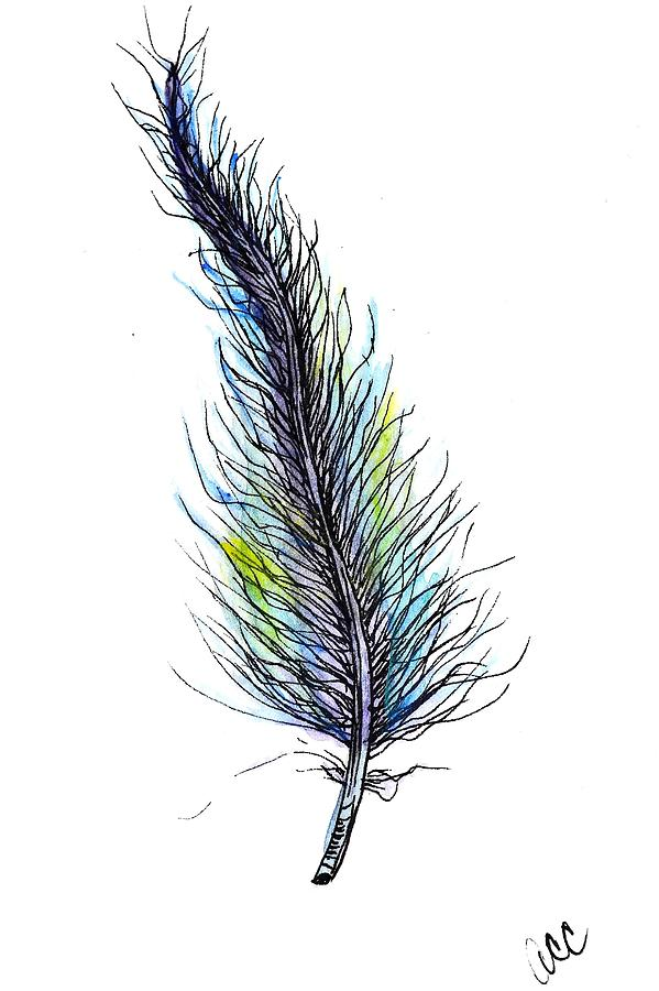 Peaceful Feather by Anne Clark
