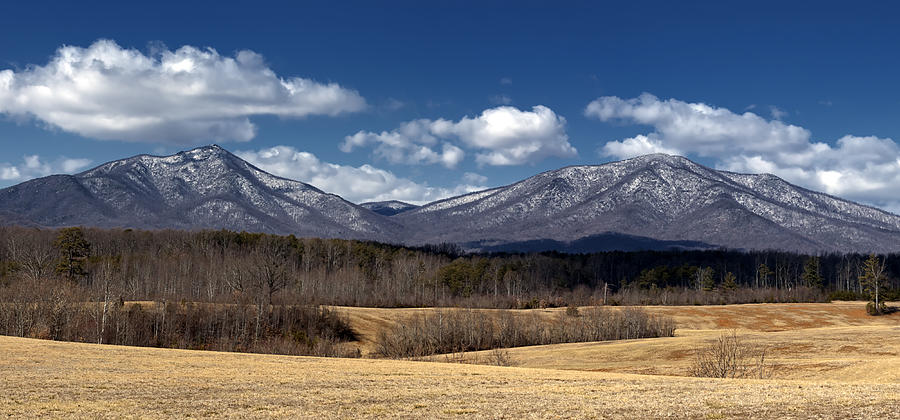 Winter Photograph - Peaks Of Otter Mountains by Steve Hurt