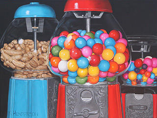 Artist Painting - peanuts and Gumballs by K Henderson