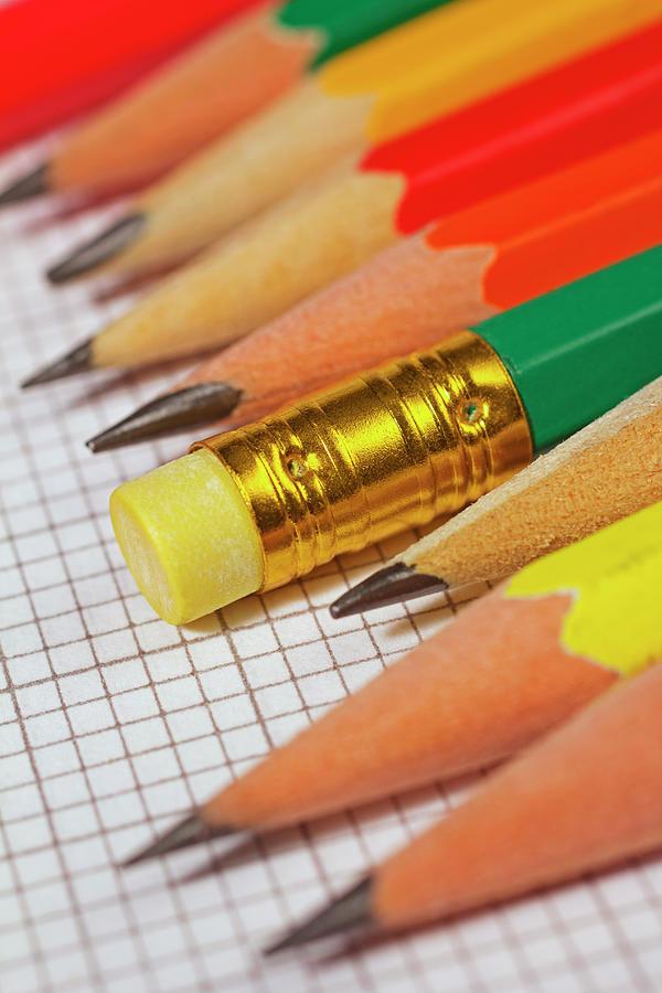 Pencils Photograph by David Gould