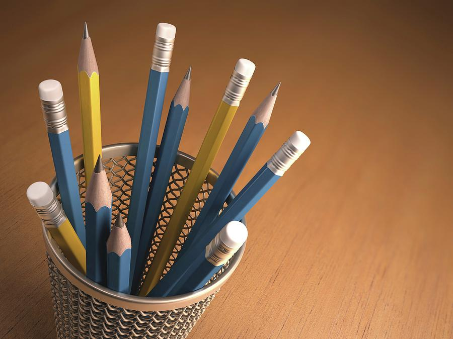 Artwork Photograph - Pencils In A Pot by Ktsdesign