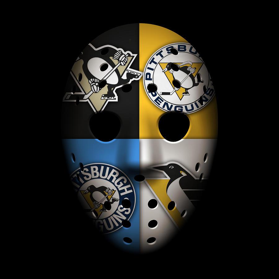 Penguins Photograph - Penguins Goalie Mask by Joe Hamilton