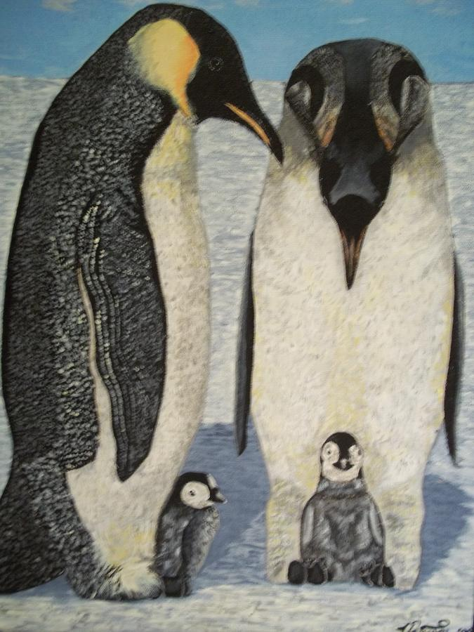 Arctic Painting - Penguins by Teresa  Peterson