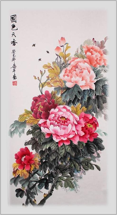 Flower Painting - Spell Of The Fragrance  by Ping Yan