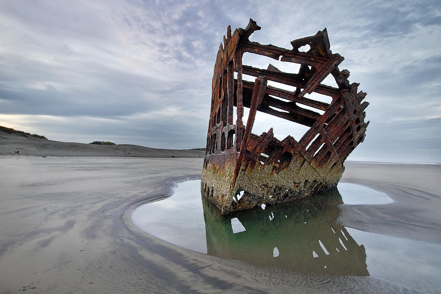 Peter Iredale Photograph - Peter Iredale At Dawn by David Gn