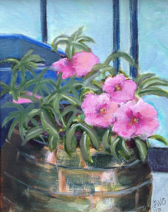 Petunias at Art Space by Melanie Lewis