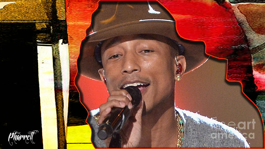 Pharrell Mixed Media - Pharrell Williams by Marvin Blaine