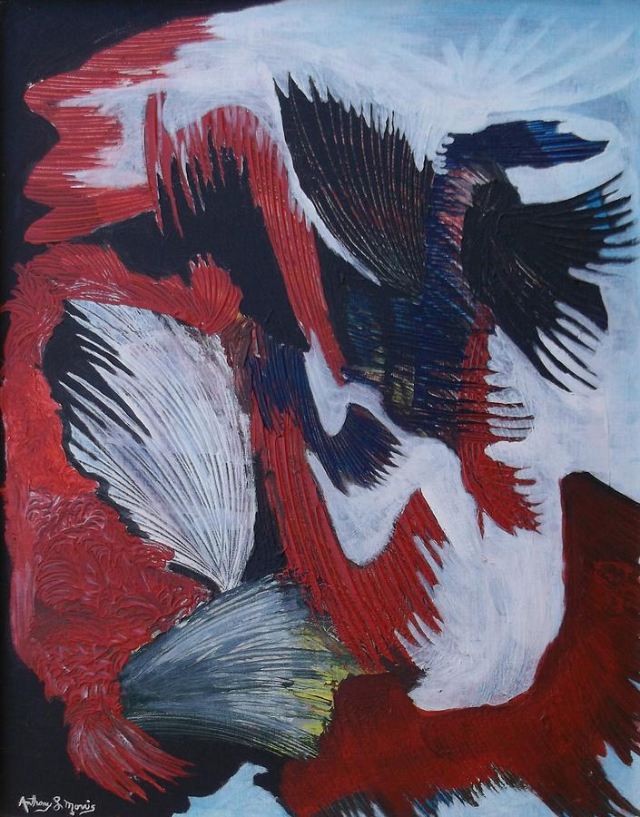 Phoenix Painting - Phoenix by Anthony Morris