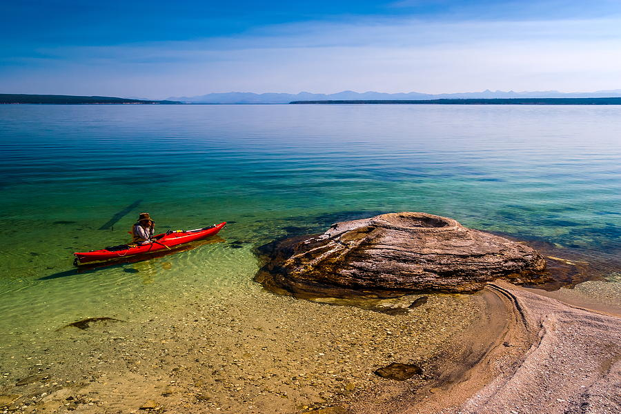 Yellowstone Photograph - Photographing Fishing Cone by Chuck De La Rosa