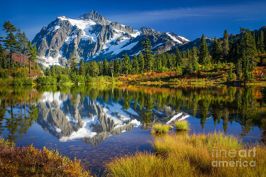 America Photograph - Picture Lake by Inge Johnsson