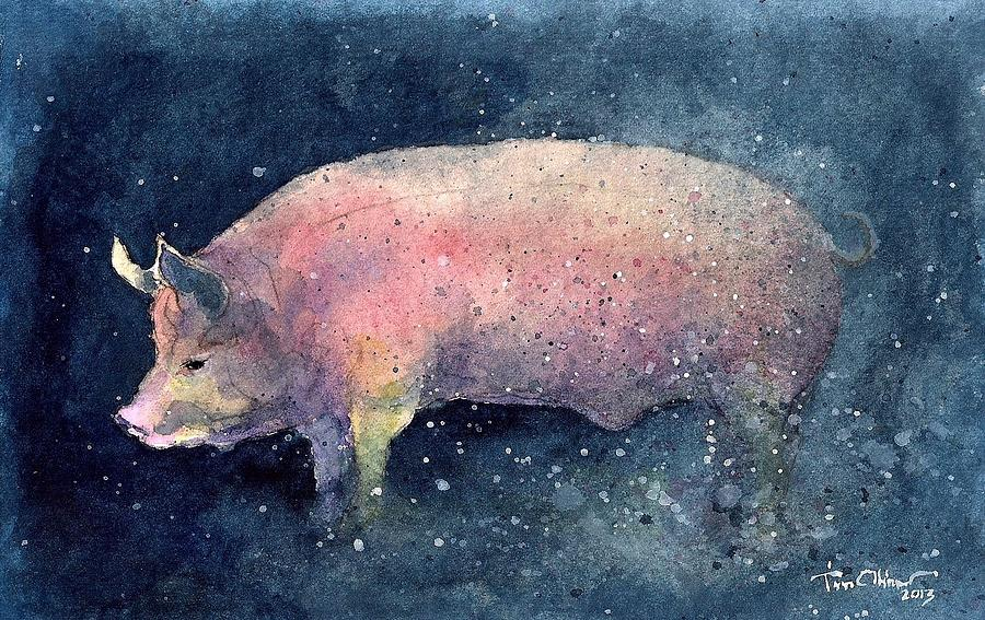 Pig Painting by Tim Oliver