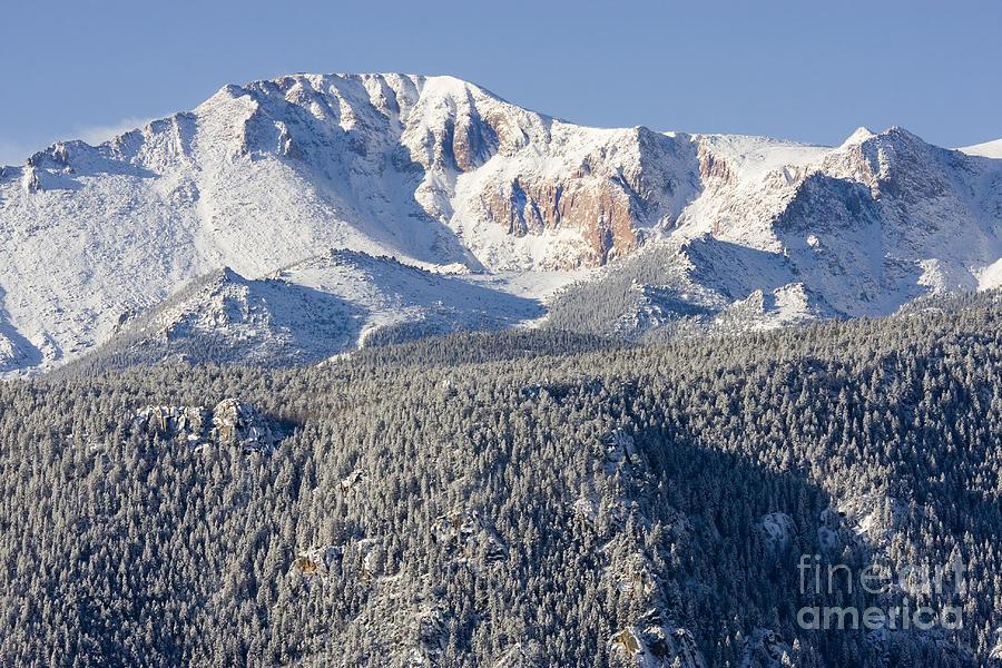 Pikes Peak Snow Photograph