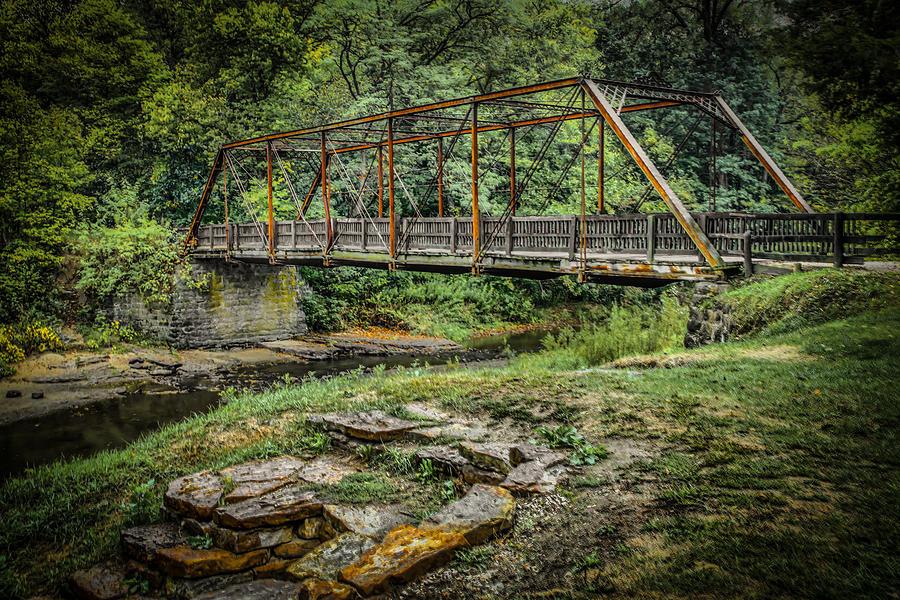 Pine Creek Bridge Photograph by Ray Congrove