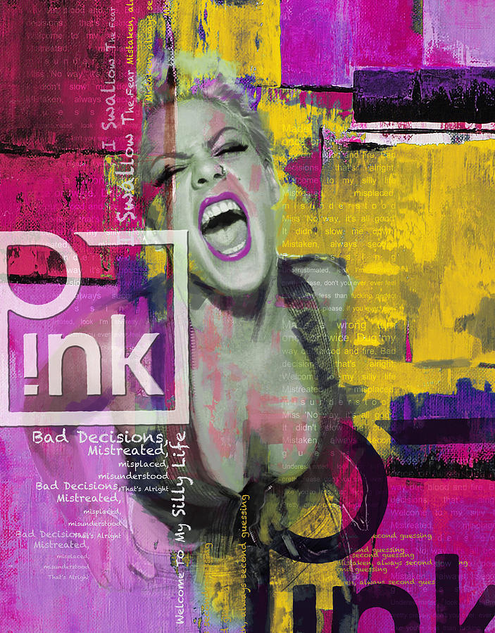 Pink Painting - Pink by Corporate Art Task Force