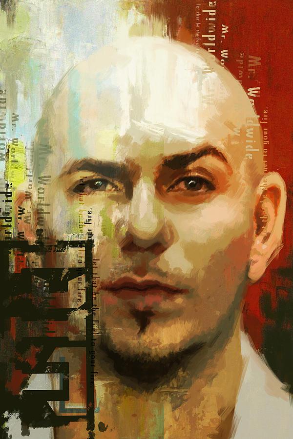 Pitbull Painting - Pitbull by Corporate Art Task Force