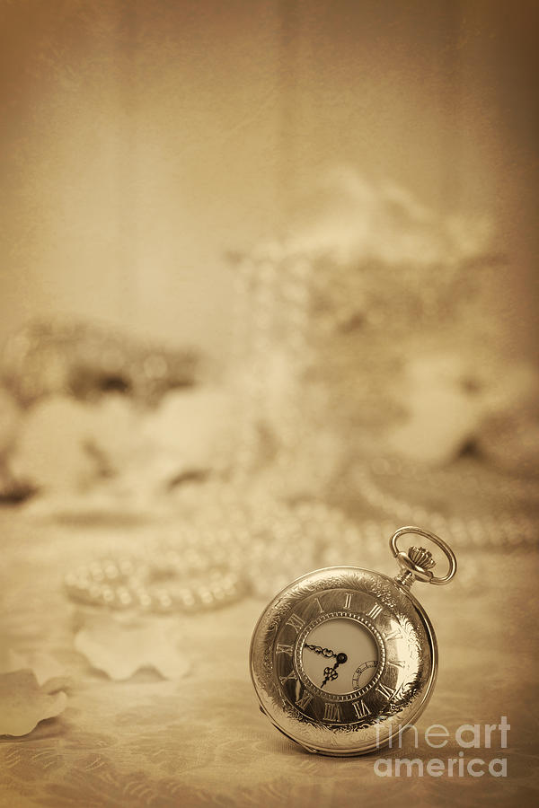 Old Photograph - Pocket Watch by Amanda Elwell