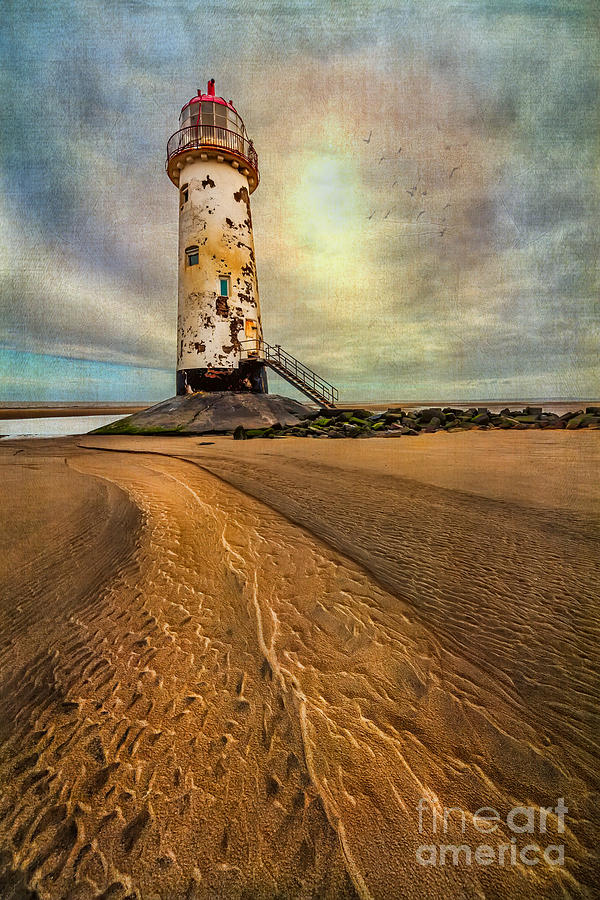 British Photograph - Point Of Ayre Lighthouse by Adrian Evans
