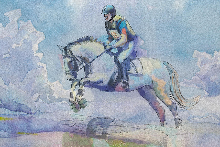 Horse Sport Painting - Polo Art by Catf