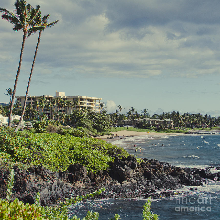 Aloha Photograph - Polo Beach Wailea Point Maui Hawaii by Sharon Mau