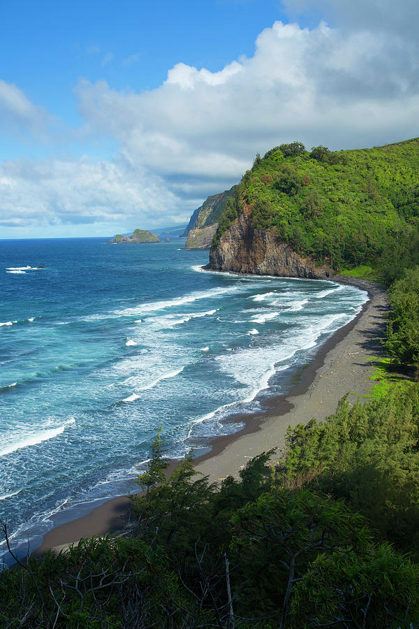 Beach Photograph - Pololu Valley, North Kohala, Big 1 by Douglas Peebles