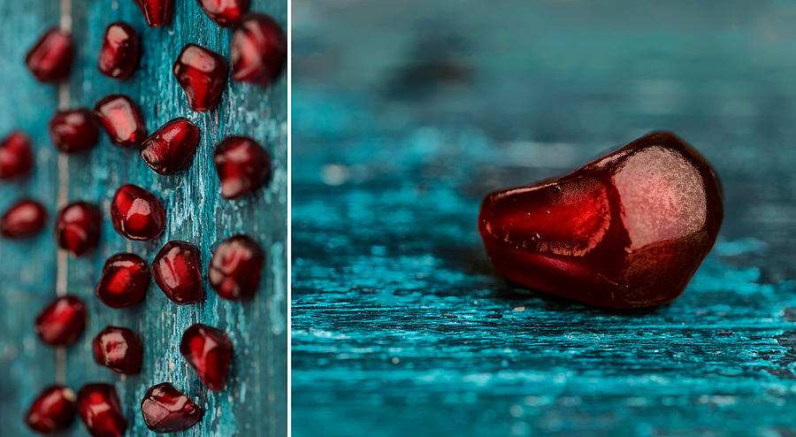 Pomegranate Photograph - Pomegranate Collage by Nailia Schwarz