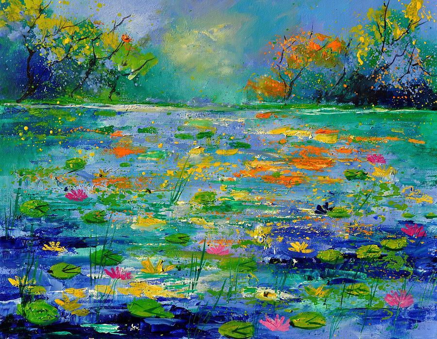 Landscape Painting - Pond 454190 by Pol Ledent