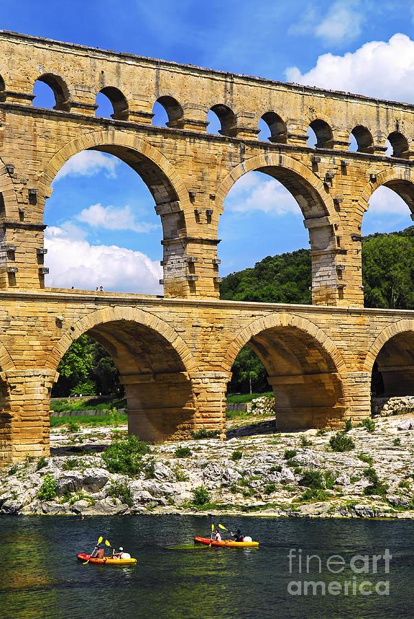 Pont Photograph - Pont Du Gard In Southern France by Elena Elisseeva