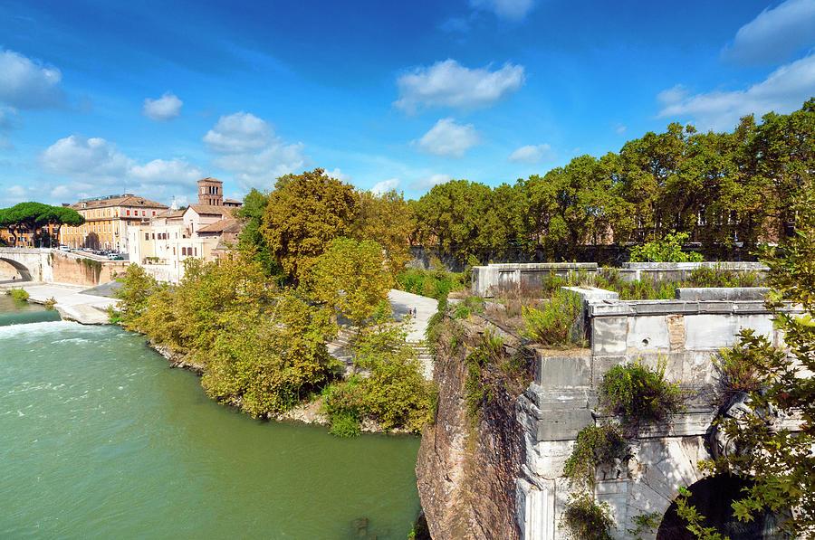 Ancient Photograph - Ponte Emilio Today Called Ponte Rotto by Nico Tondini