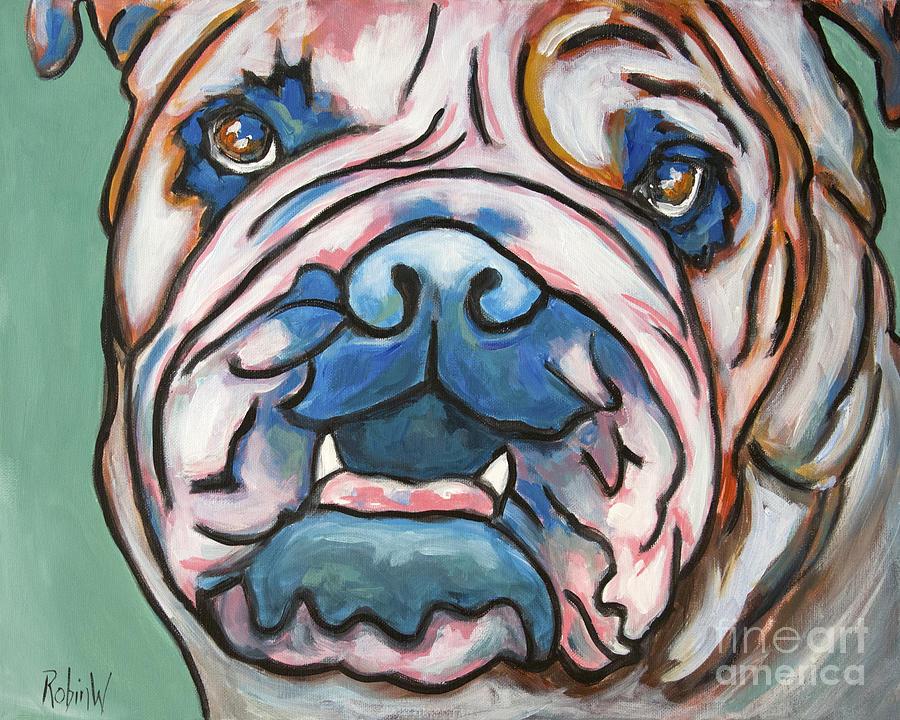 Pop Art Bulldog Painting
