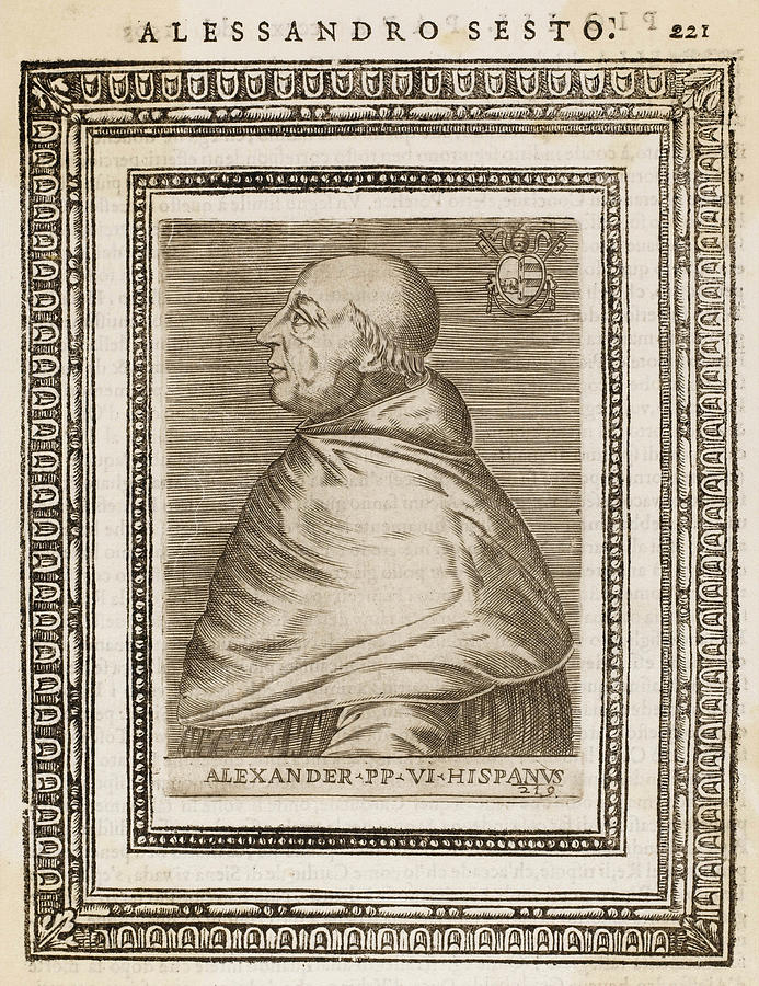 Pope Drawing - Pope Alexander Vi (roderigo Borgia) by Mary Evans Picture Library