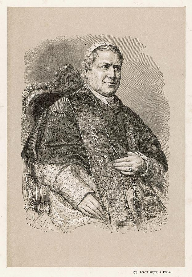 Pope Drawing - Pope Pius Ix (conde Giovanni Maria by Mary Evans Picture Library