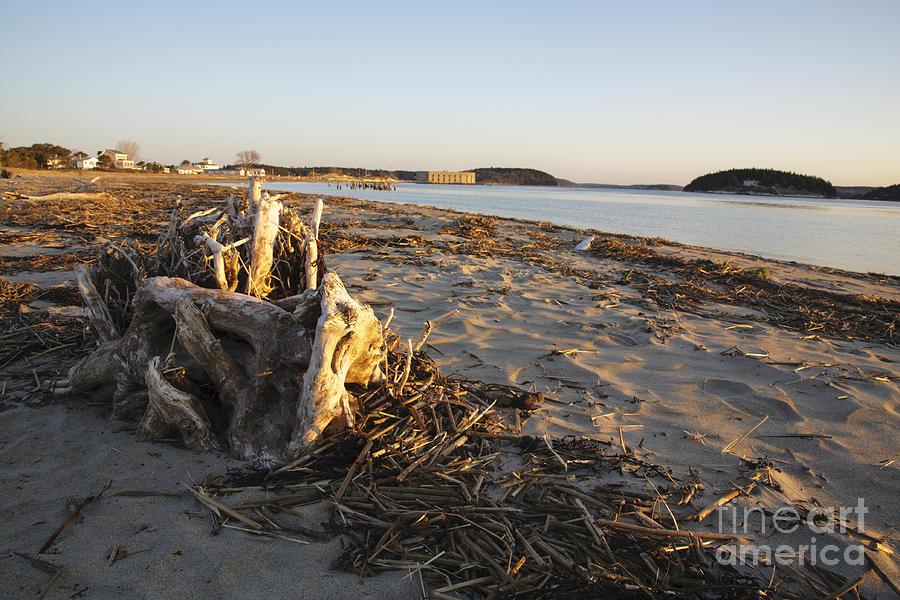 Fort Popham Photograph - Popham Beach State Park - Phippsburg Maine Usa by Erin Paul Donovan