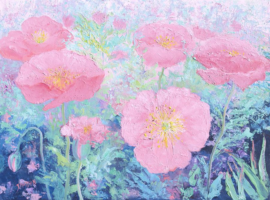 Poppies Painting - Poppy Garden by Jan Matson
