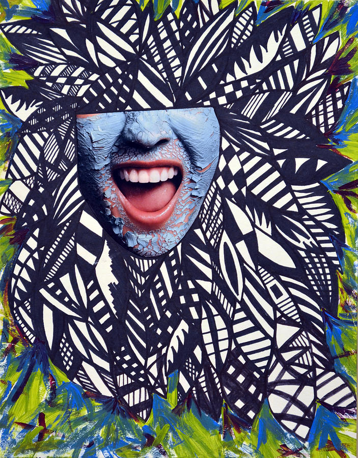 Sharpie Mixed Media - Porcelain Scream  by Leah Chyma