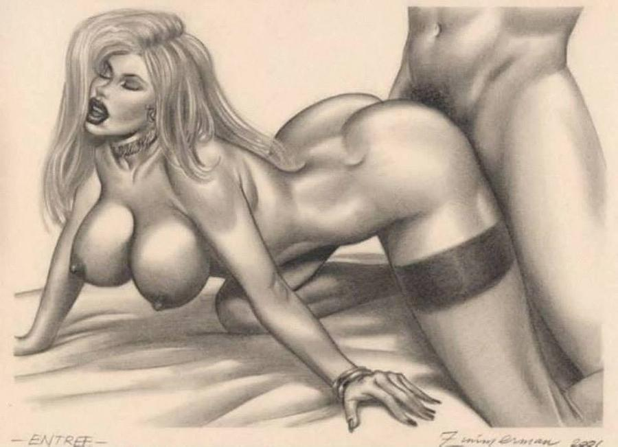 Cartoon pencil erotic