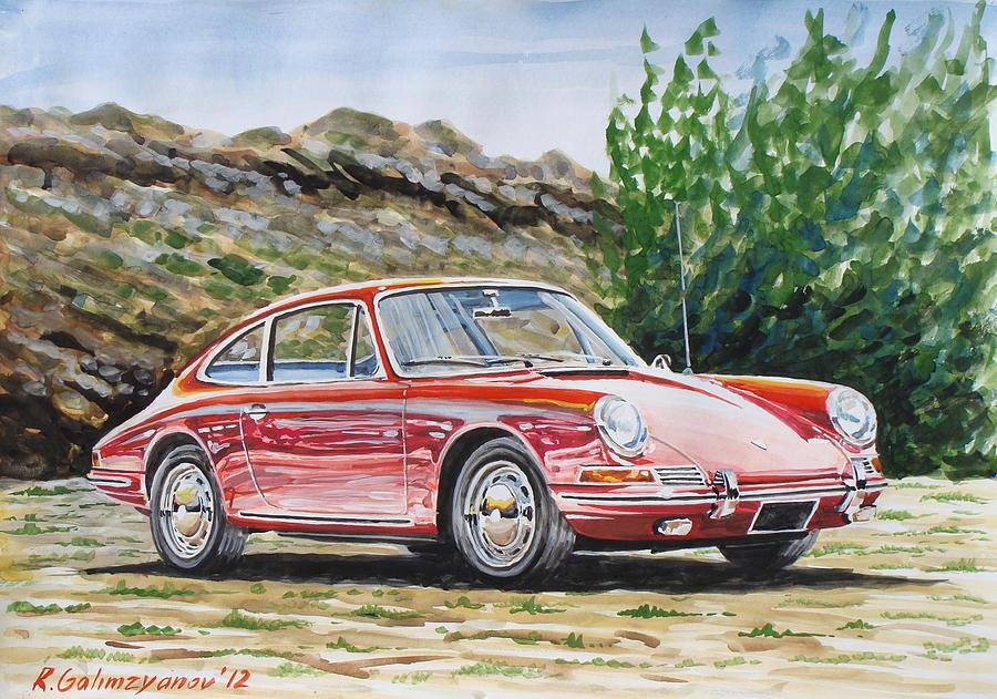 Car Painting - Porsche 911 by Rimzil Galimzyanov