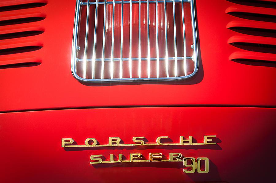 Porsche Logos Photograph - Porsche Super 90 Tail Emblem by Jill Reger