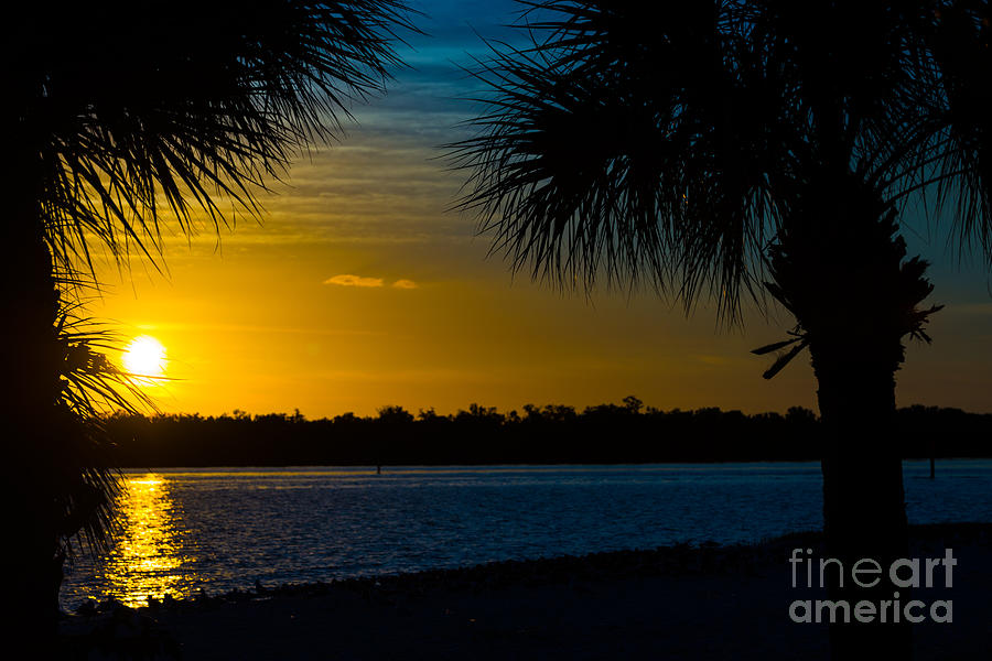 Port Charlotte Photograph - Port Charlotte Beach Sunset In January by Anne Kitzman