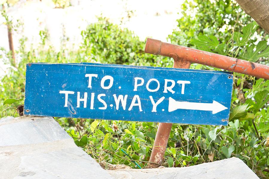 Port Sign Photograph