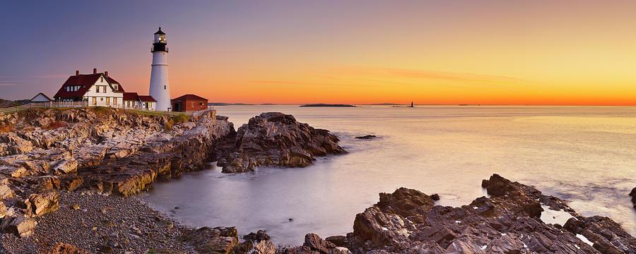 Portland Head Lighthouse, Maine, Usa At Photograph by Sara winter