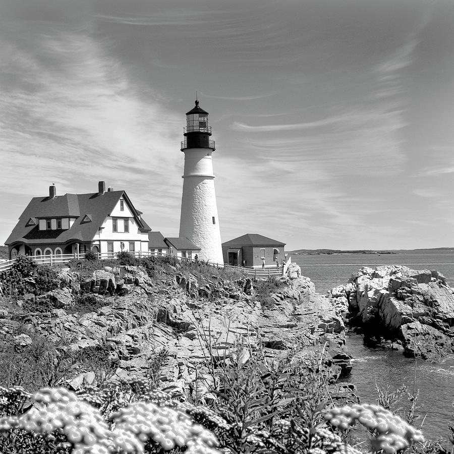 Portland Photograph - Portland Head Lighthouse by Mike McGlothlen