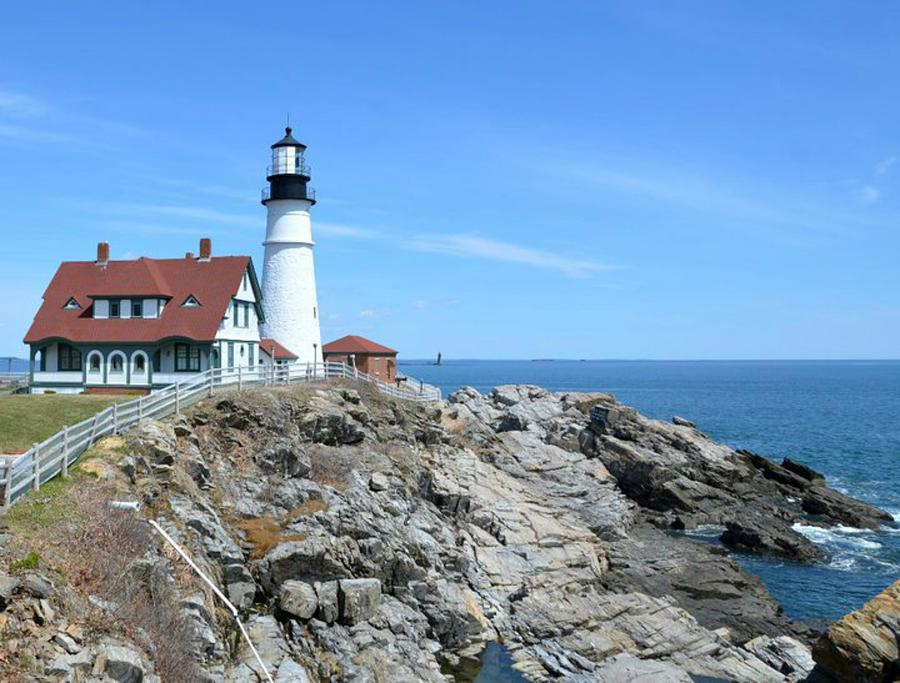 Portland Headlight Photograph - Portland Headlight by Old Pueblo Photography