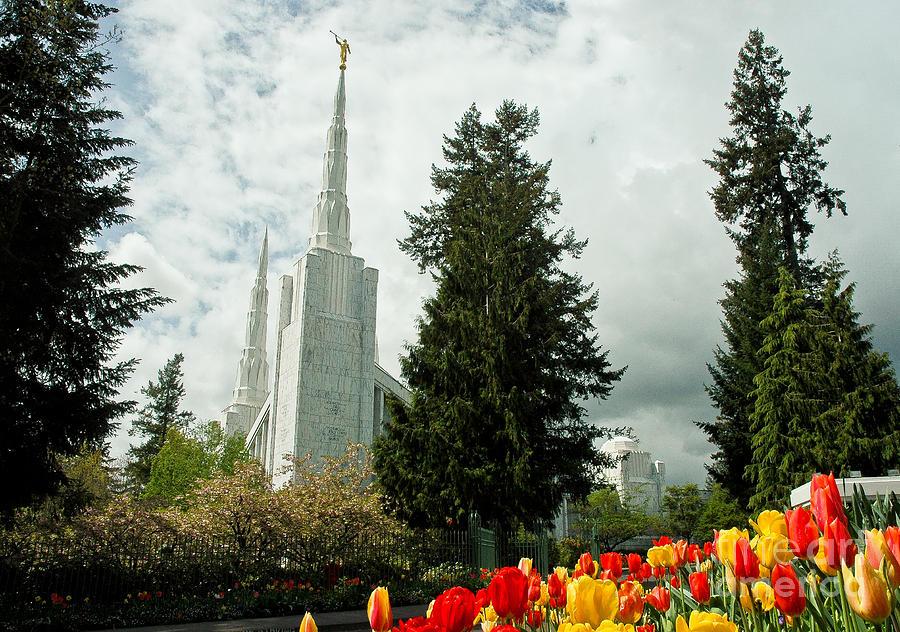 Portland Photograph - Portland Oregon Lds Temple by Nick Boren