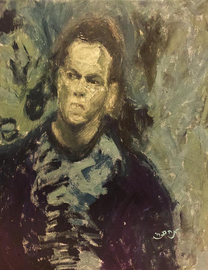 Portrait Painting - Portrait Matt Damon Jason Bourne Movie by MendyZ