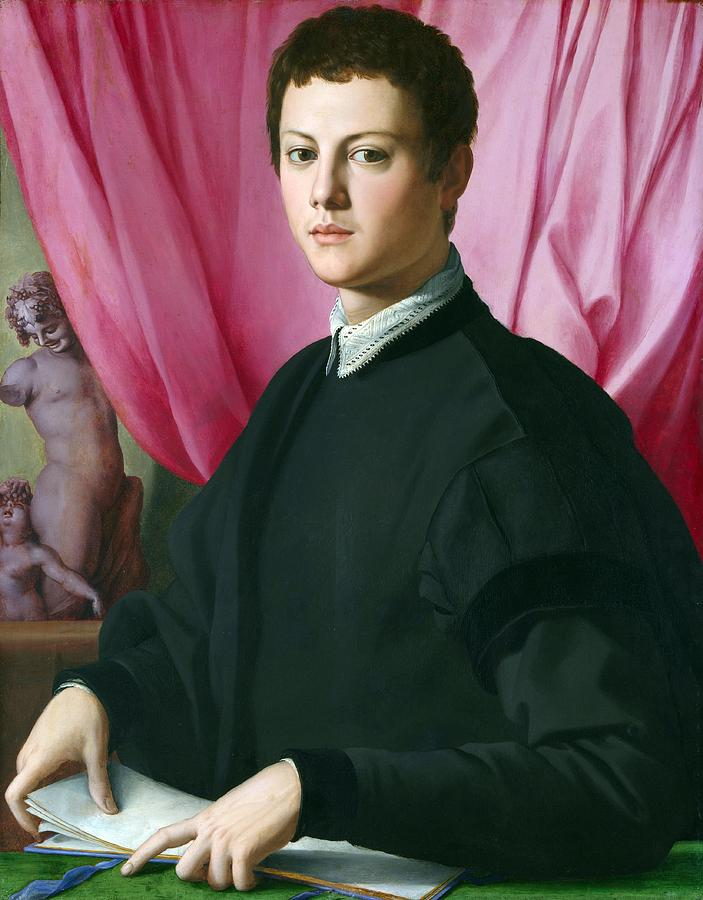 Cinquecento Painting - Portrait Of A Young Man by Agnolo Bronzino