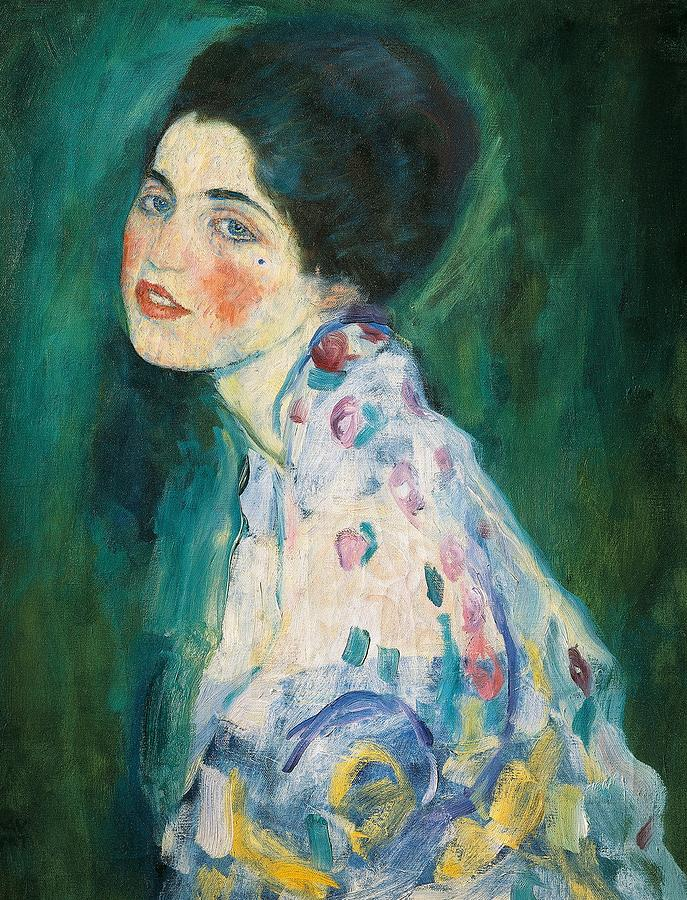 Female Painting - Portrait Of A Young Woman by Gustav Klimt