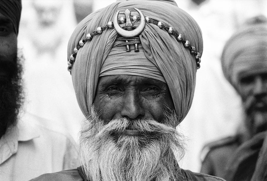 India Photograph - Portrait Of An Old Nihang by Urs Schweitzer