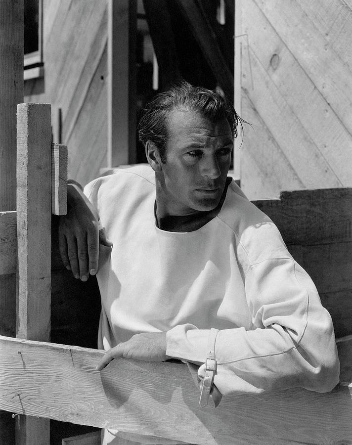 Portrait Of Gary Cooper 1 Photograph by George Hoyningen-Huene