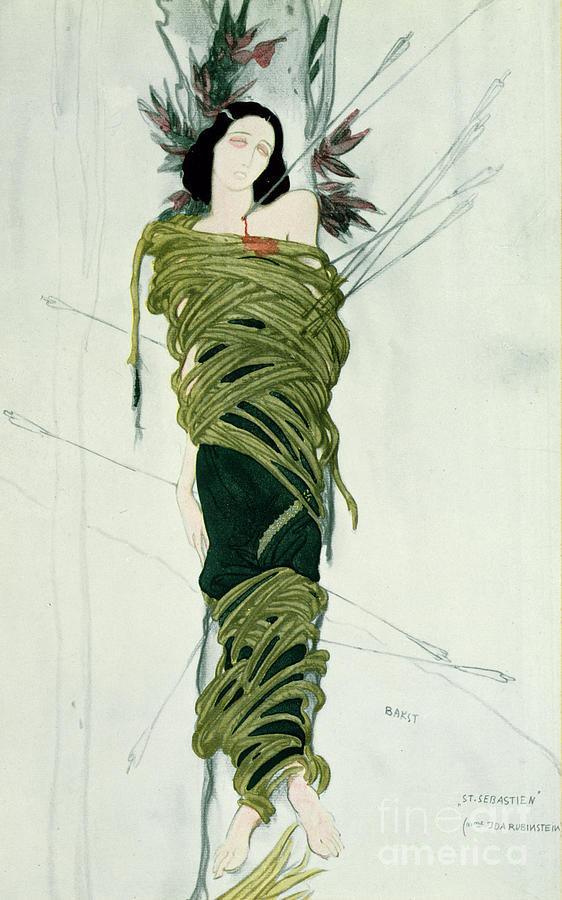 Leon Bakst Painting - Portrait Of Ida Lvovna Rubinstein by Leon Bakst